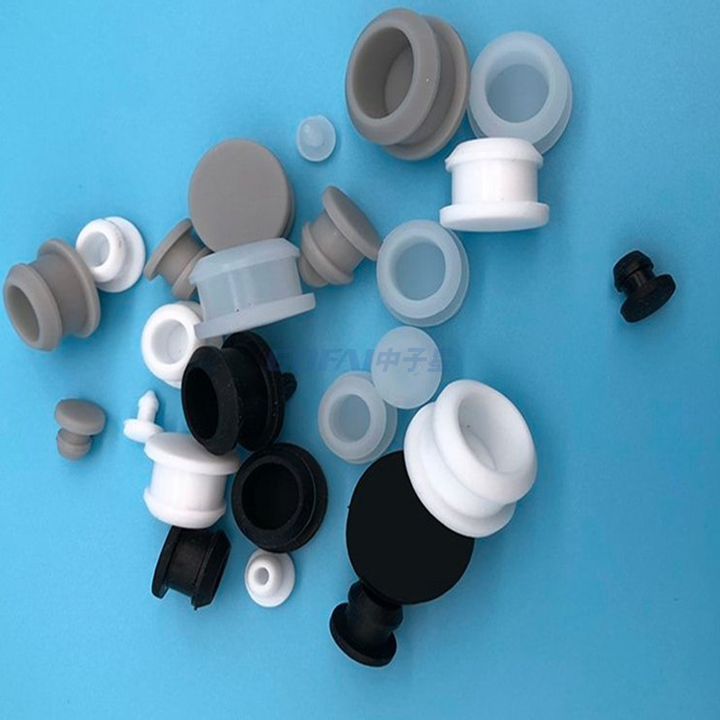 White Color Silicone Rubber Plastic Pipe End Caps Sink Hole Plug