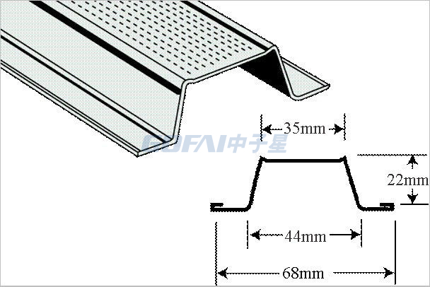 7/8 Inch Cyclonic Ceiling Batten for Ceiling System
